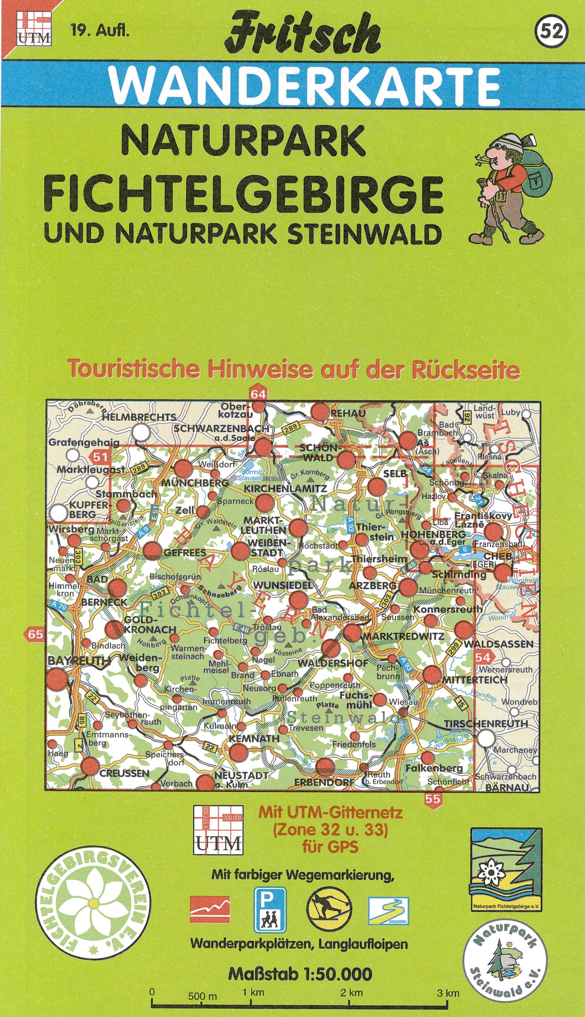 Fritsch Wanderkarte Naturpark Fichtelgebirge